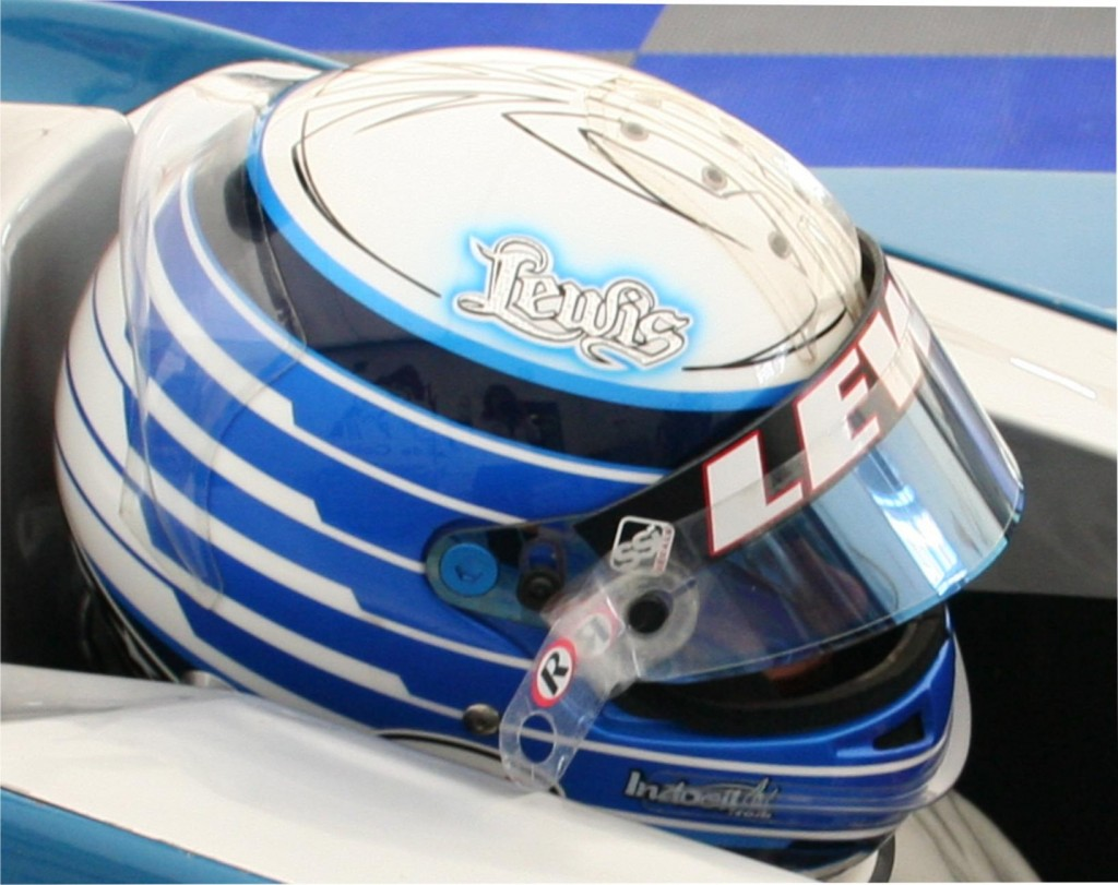 Custom Painted bell helmet for Lewis