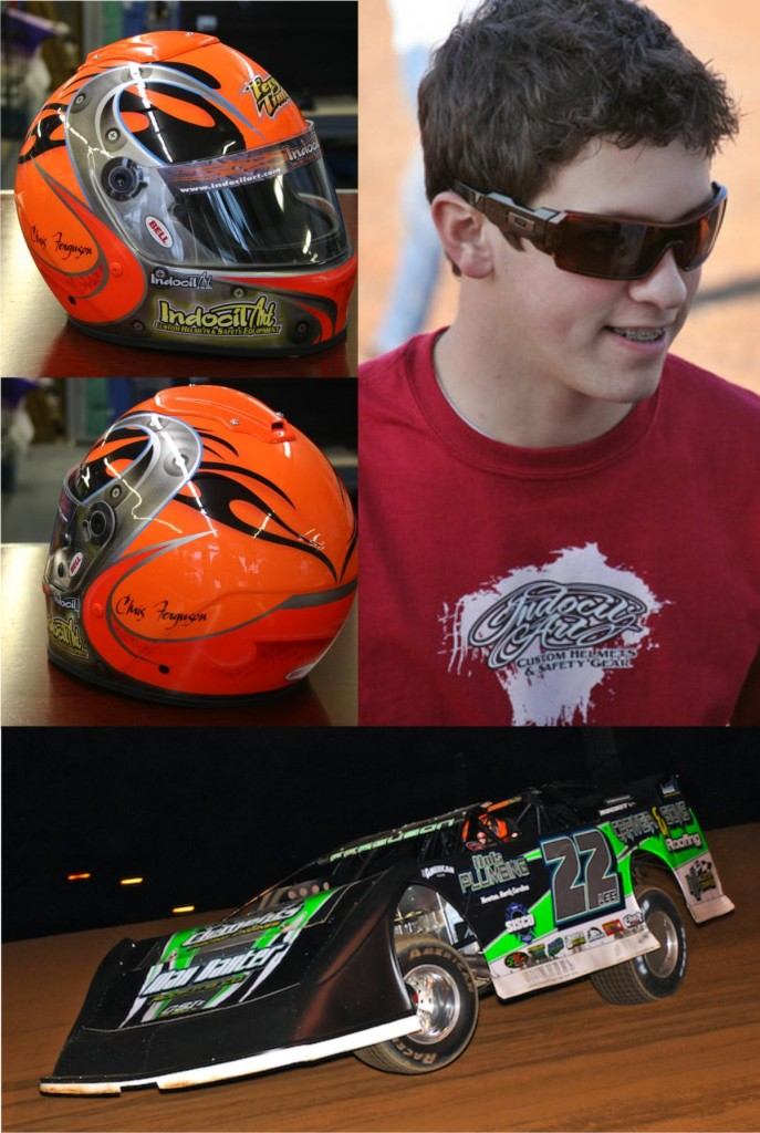 fergy takes Indocil Helmet to the winners circle