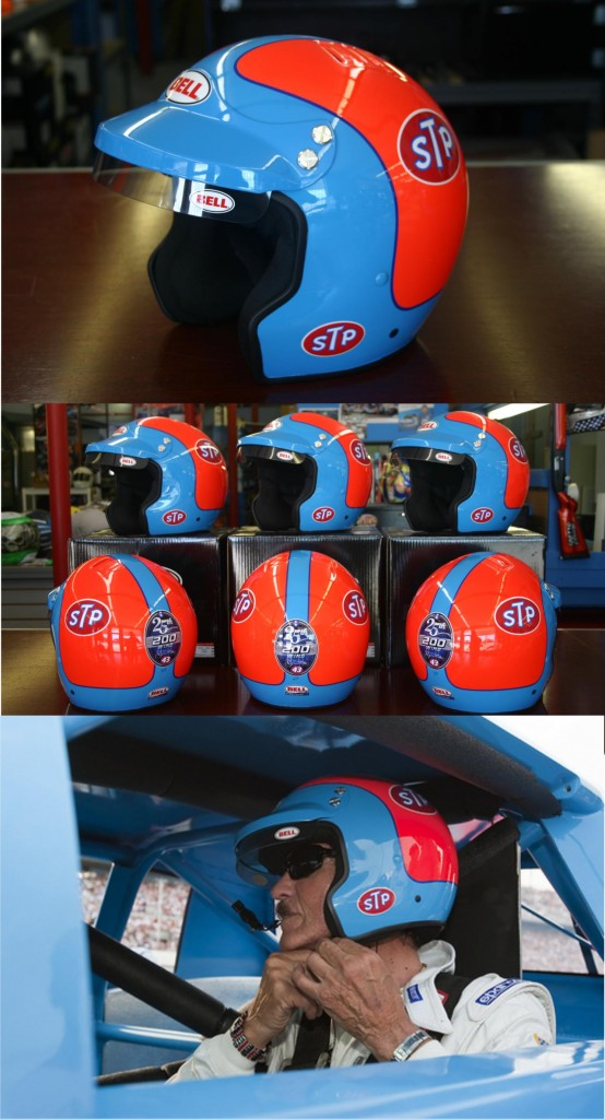 Richard Petty 200 win custom painted helmet