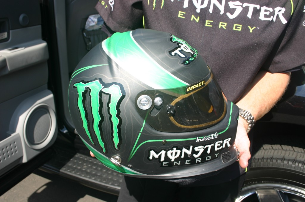 Close up of the TJ Monster helmet