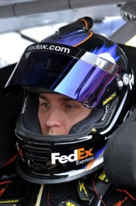 FedEx Racing helmet
